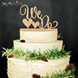 "Generic Wooden Wedding Cake Topper "" We Do"" Wedding Cake Stand Wedding Decoration Cake Decorating Supplies"