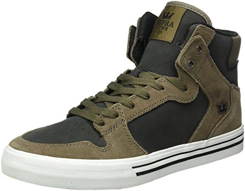 Supra Vaider, Baskets Basses Homme Marron - Braun (MOREL / BLACK - WHITE 099)