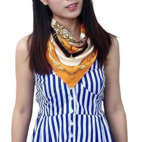 Fashion Attack 60cm x 60cm Silk French Design Women Gift Silk Square Scarves Shawl