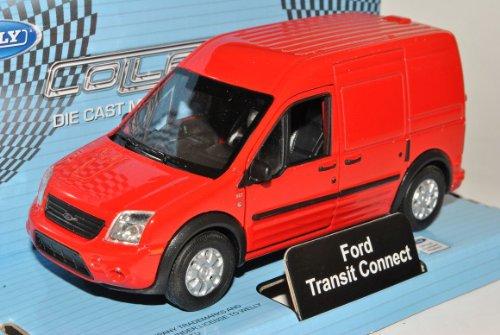 Welly Ford Transit Connect Rot Kasten Transporter 2002-2013 ca 1/43 1/36-1/46 Modell Auto mit individiuellem Wunschkennzeichen Connect-modell