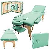 Massage Imperial - tragbare Profi-Massageliege Chalfont - leicht - 3-teilig - flaschengrün
