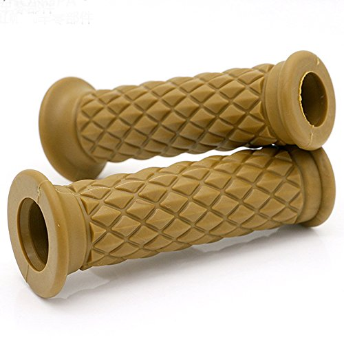 7 / 8 '22mm Hand Grips Handlebar Grip Motorcycle Anti Slip Rubber Grip for Honda, Yamaha, Suzuki, Kawasaki, BMW, Triumph (Gold)