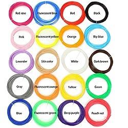 ELEGAINT 1.75Mm Filamentos ABSpara Plumas Impresora 3D Pluma 3D 20 Colores 5M