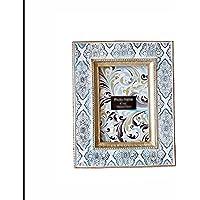 liuhoue Marco de Fotos Vintage Tallado a Mano, Portaretrato Arte 3 Pulgadas 6 Pulgadas Tabla
