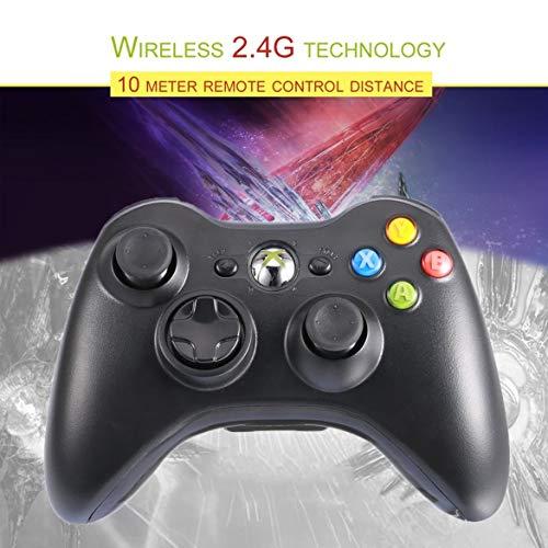 Bluetooth Gamepad 2.4G Wireless joystick Maniglia controller di gioco PC multimediale gioco Joypad per Android (nero)