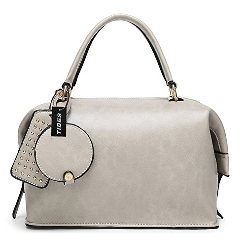 Tibes messager de luxe mini sac poignée supérieure de sac à main du parti Gris