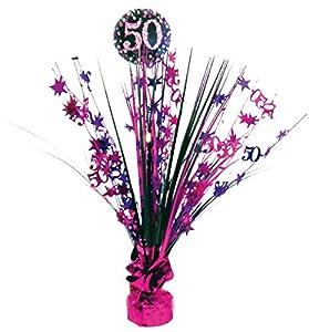 Amscan-9900607Centro de mesa, celebración de 50º cumpleaños, 45cm