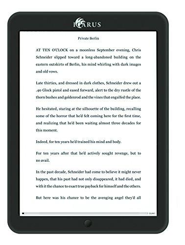 Icarus Illumina XL 8 Android e-reader con luz frontal (Wi-Fi, pantalla táctil,...