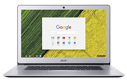 Acer Chromebook 15 CB515-1HT-P099 15.6-Inch Notebook - (Pure Silver) (Intel Pentium N4200, 4 GB RAM, 64 GB eMMC, Intel HD Graphics 505, Chrome OS)