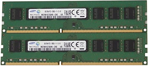 Samsung original 16GB, (2 x 8GB) 240-pin DIMM, DDR3 PC3-12800, desktop memory module -