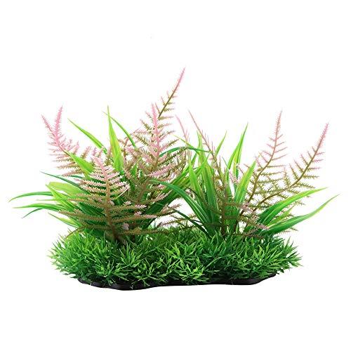 Rosvola Wassergras-Verzierung, künstliche Plastikwasserpflanze der Simulation für Aquarium-Dekor(ZK0003) -