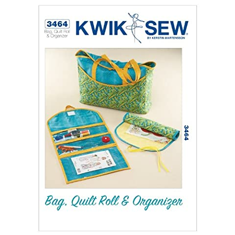 Kwik Sew Patterns K3464 Bag Quilt Roll and Organizer, Pack of 1, White