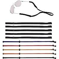 Senhai 10 pezzi Unisex Regolabile Fermo per occhiali, Fermo per occhiali da sole Supporto per occhiali con cinturino…