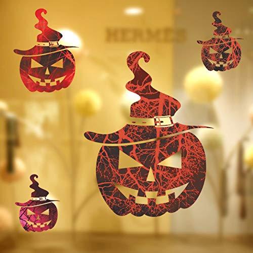 Wandaufkleber Heißen Die Neuen Horror Halloween Pumpkin Head Wall Sticker Bar Haunted House Fenster Glas Deko Aufkleber