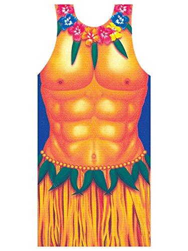Hawaii-schürze (KULTFAKTOR GmbH Hawaii Schürze Hula-Boy bunt Einheitsgröße)