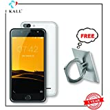 IKALL K1 Silver 5 Inch Display (1+8GB) 4G Volte Smart Phone With Freebie Fingure Ring Mobile Holder (Assorted Color)