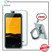 IKALL Silver 5 Inch Display (1+8GB) 4G Volte Smart Phone with Fingure Ring Phone Holder - Assorted Colour