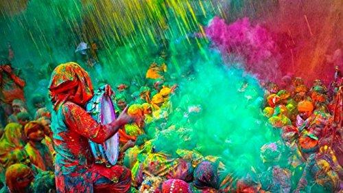 omg-deal Gulal Holi powder-colors Farbe Pulver 100g, 3Stück, je Festival Farben
