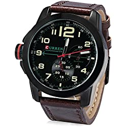 Leopard Shop CURREN Men Quartz Watch Military Wristwatch Date Chronograph #01