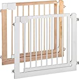 IB-Style - Treppengitter/Türgitter KOLBY L | 3 Größen | 94-100 cm | aus massivem Holz - Natur