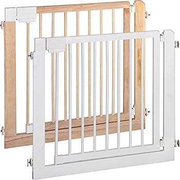 IB-Style - Barriere de sécurité des escaliers et des portes KOLBY | 3 tailles | 80 - 86 cm | a bois massif - naturel
