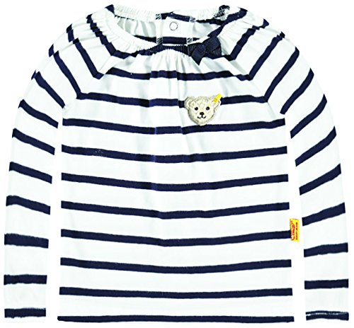 Steiff Collection Mädchen, Hemd, T-Shirt 1/1 Arm, Blau (marine 3032), 80