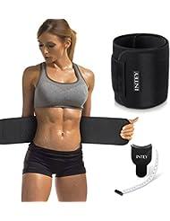 INTEY Fajas Reductoras Adelgazante Abdominal Sudor de Cinturón Ajustable para Mujer y Hombre, Corrector de Postura, Talla Única