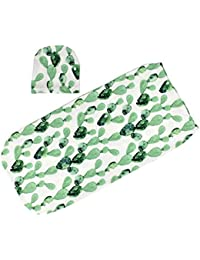 waitFOR Sleeping Bag for Baby, 0-3 monthsBoys Girls Printing Sleeping Swaddle Blanket Set with Muslin Cap Wrap,Toddler Baby Sleep Swaddle Wrap Warm Stroller Wrap Baby Sleeping Pajama