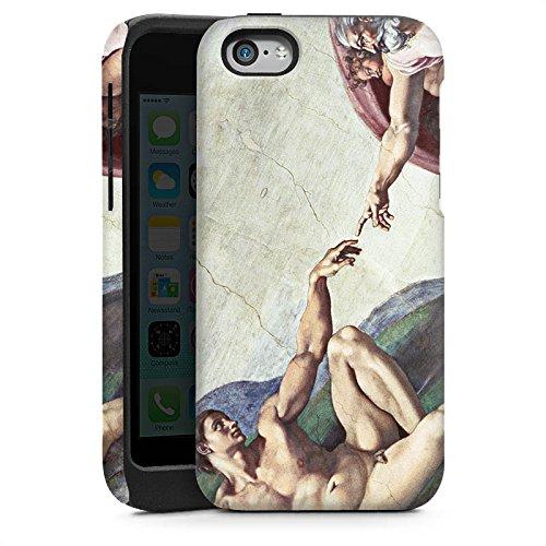 Apple iPhone 4 Housse Étui Silicone Coque Protection Michel-Ange Art Adam Cas Tough brillant