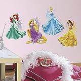 RoomMates, Adesivi giganti da Parete riposizionabili con Principesse e Castelli Disney