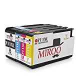 None MIROO High Yield Replacement for hp 711XL ink Cartridge 4 PackCompatible with HP Designjet T120 24 T520 24 T520 36 Large Format Printer 1set+1BK