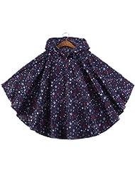 hibote a prueba de viento e impermeable niños delgada capa impermeable de los niños del poncho con el bolso
