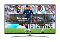 Hisense H55U7AUK 55-Inch 4K Ultra HD ULED Smart TV with HDR and Freeview Play - Silver/Black (2018 Model)