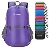 ZOMAKE Ultra Lightweight Foldable Backpack Water Resistant Hiking Daypack, Unisex Small Rucksack
