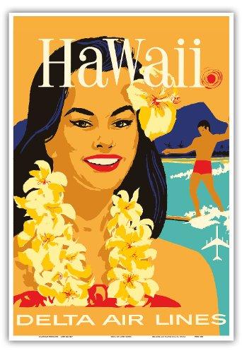 hawaii-delta-air-lines-hawa-iisch-isla-de-nina-llevar-un-lei-flor-y-un-surfer-vieja-hawa-falda-de-vi