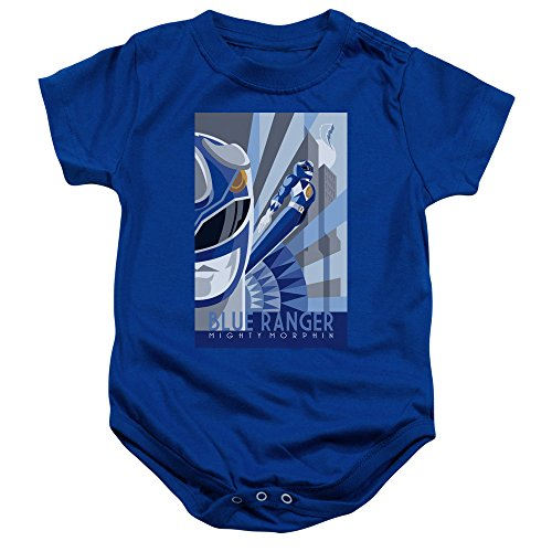 Power Rangers - - Toddler Bleu Ranger Deco Onesie, 6 Months, Royal Blue