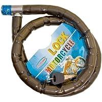 HFTEK Chaînes Antivol 22mm x 100cm Chain Bike Lock pour Vélo/E-Bike/Scooter / Moto