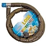 HFTEK – Cerradura blindada de seguridad, cerrador, candujo, candado para ciclomotor, scooter, ciclismo, carrera, bicicleta y motocicleta – 100 cm / 22 mm