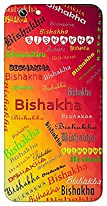 Bishakha (Star) Name & Sign Printed All over customize & Personalized!! Protective back cover for your Smart Phone : Micromax Canvas Sliver 5 Q450