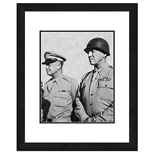 Tolle amerikanische Fotografie Wunderschönes Foto von Dwight Eisenhower und General George Patton (Picture Frames Marilyn Monroe)