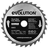 Evolution Power Tools - Build RAGEBLADE210WOOD Wood Carbide-Tipped Blade, 210 mm - Multi