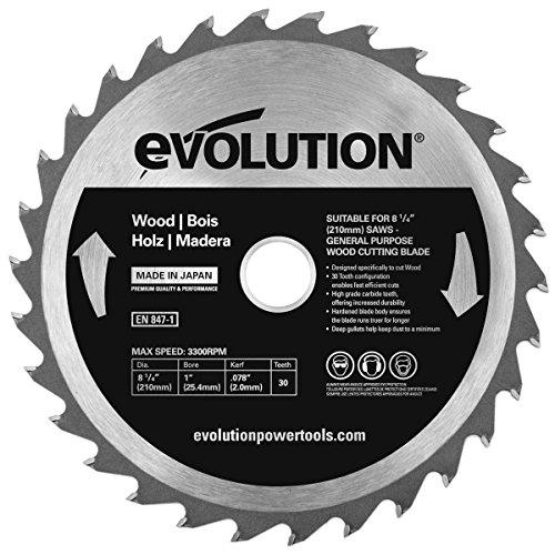 Evolution Power Tools–Bj rageblade210wood Evolution 210mm Holz Hartmetallbestückt Klinge, 0V, Multi, 210mm