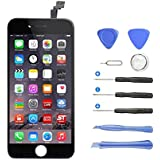 Pantalla Táctil LCD para iPhone 6 (4,7 pulgadas), Ashleyoo [Pantalla LCD Pantalla Táctil de Repuesto] [Herramientas completas de Reparación] Pantalla LCD iPhone 6 - Color Negro