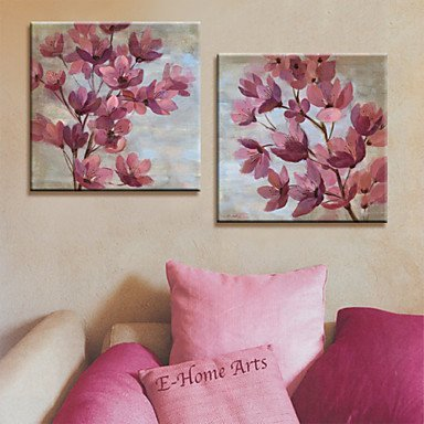 Leinwanddruck Kunst Botanical Pink Petals Set von 2