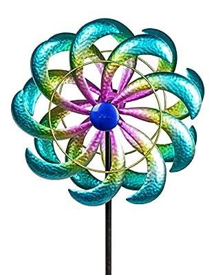 formano Windrad aus Metall Wolke mit Stange, 29/120 cm von Formano - Du und dein Garten