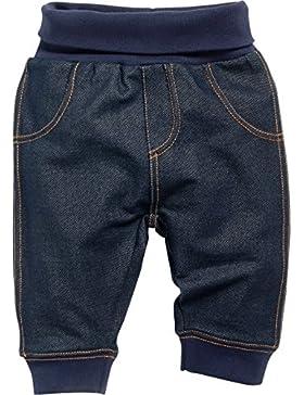 Schnizler Unisex Baby Jogginghose Sweat-Hose, Babyhose in Jeans-Optik mit Elastischem Bauchumschlag
