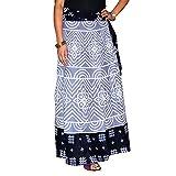 Marusthali Indian Wrap Skirt Bandhej Pri...