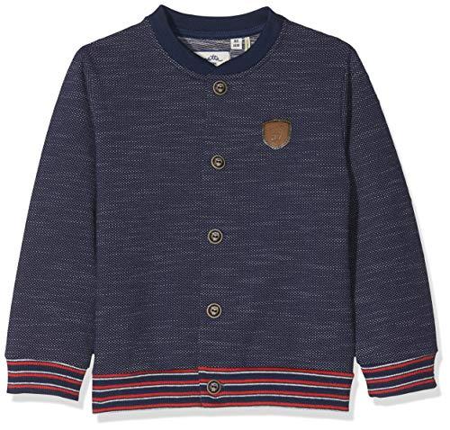 Sanetta Baby-Jungen Sweatjacke Sweatjacket Blau (Deep Blue 5993) 62 (Herstellergröße: 062)