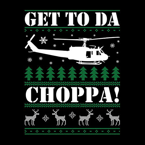 Get To Da Choppa Arnie Predator Christmas Knit Men's Vest Black