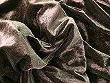 Braun Kleid Kleid Samt Stoff–145cm breit